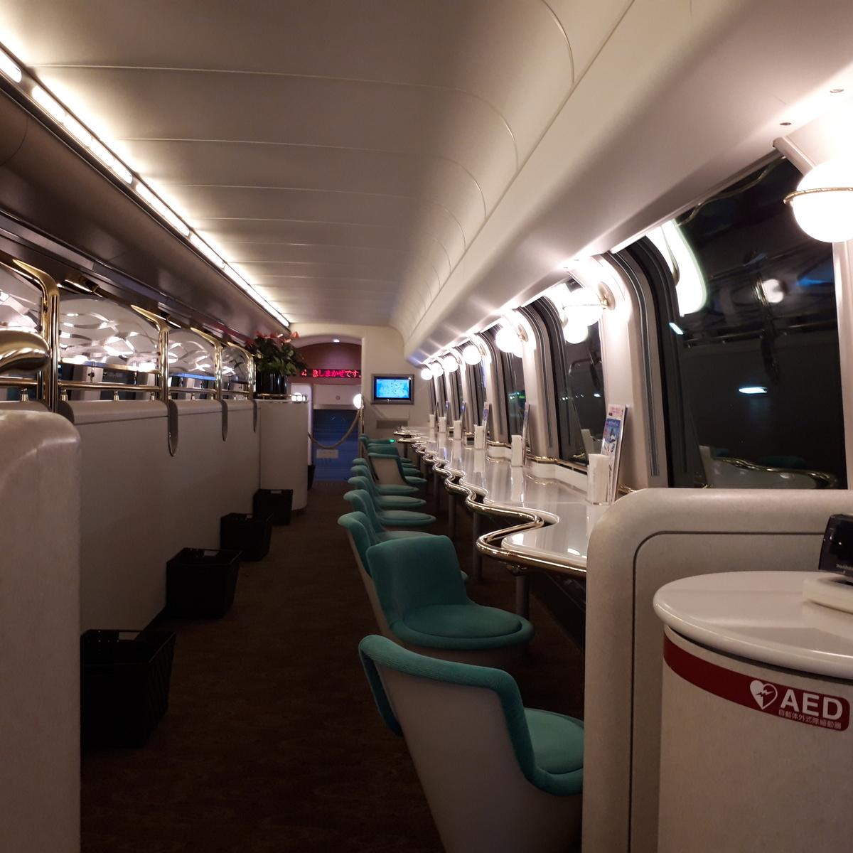 近鉄 しまかぜ 50000系 カフェ車両 2階席