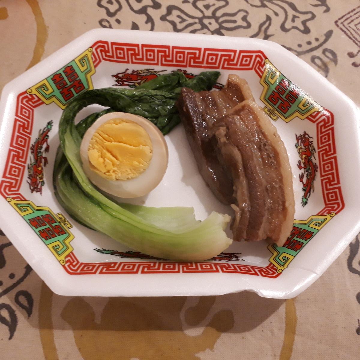 カレー事情聴取スパイス定食&バルVol.6 2019年7月19日 台湾天国 魯肉 豚の角煮 煮卵 青梗菜