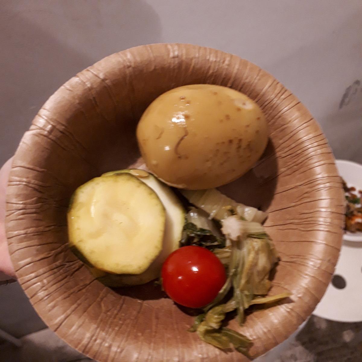 カレー事情聴取スパイス定食&バルVol.6 2019年7月20日 ソラトブスタンド ソラトブの味玉 ピクルスと一緒に