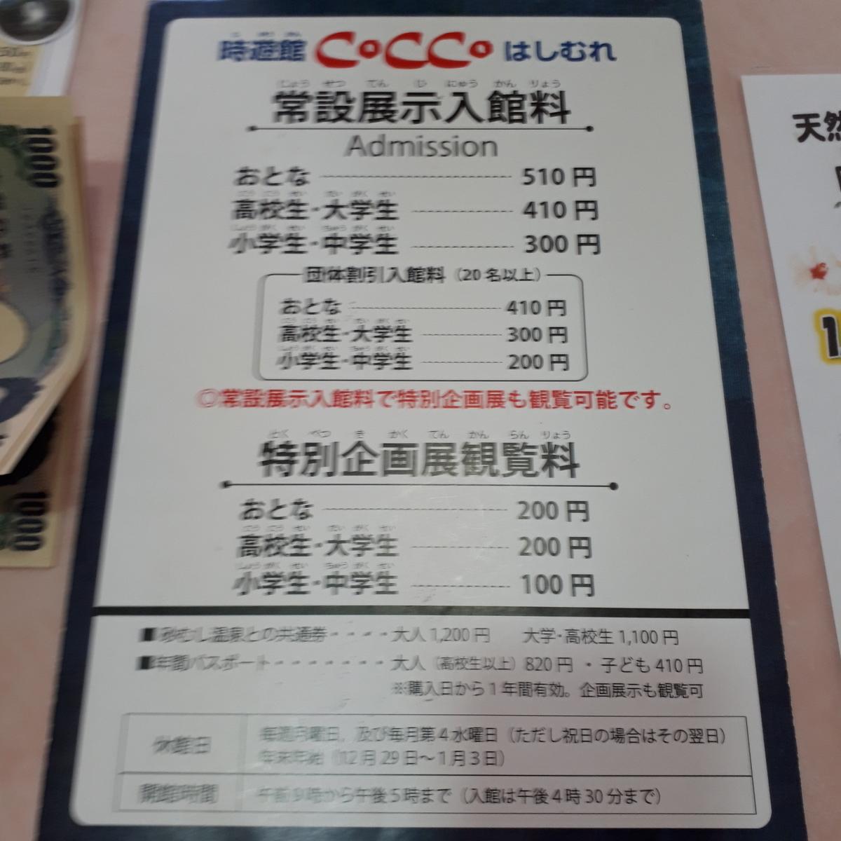 指宿市考古博物館 時遊館 Cocco はしむれ 入館料