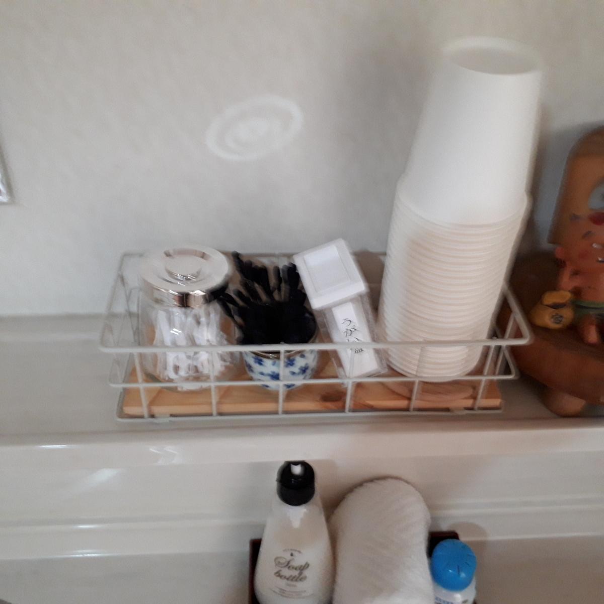 指宿 民宿たかよし 洗面台のアメニティ
