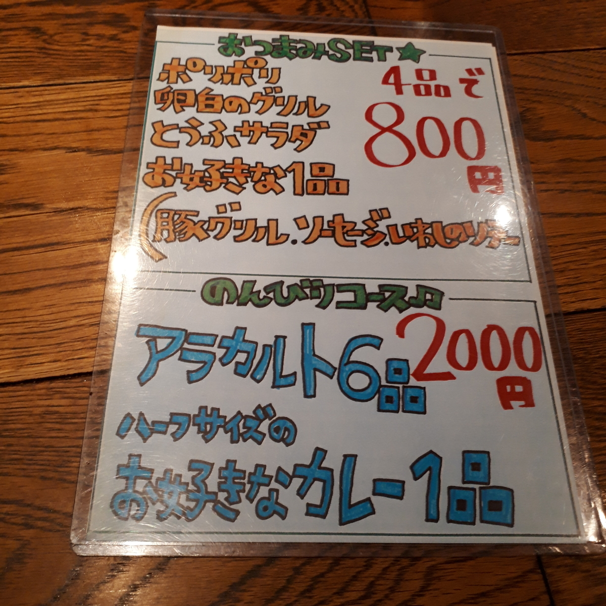 Columbia8堺筋本町店 ディナーメニュー
