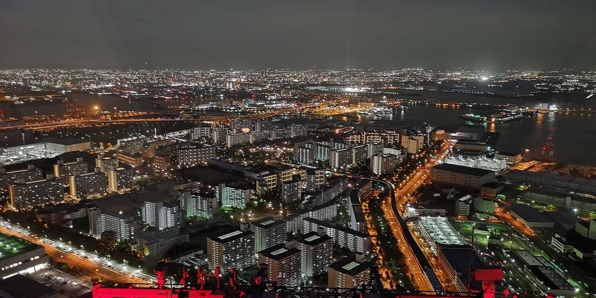 さきしまCOSMOTOWER展望台 南港方面の夜景