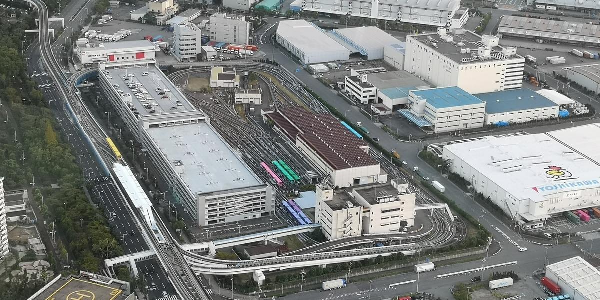 さきしまCOSMOTOWER展望台 中ふ頭駅方面