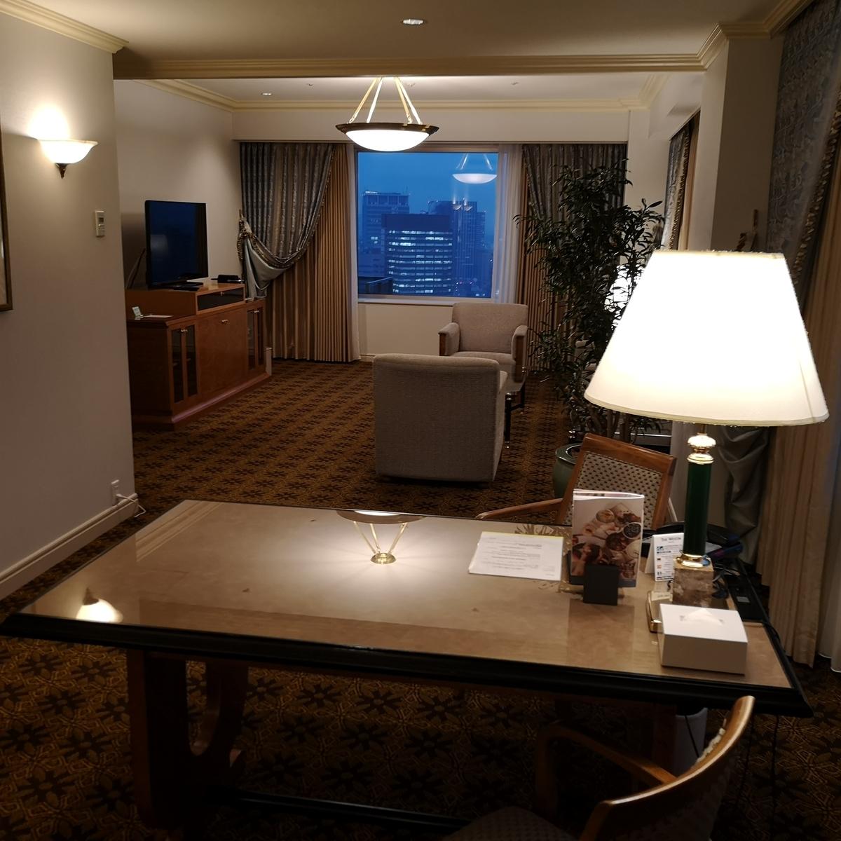 ウェスティンホテル大阪 エグゼクティブスイート リビング