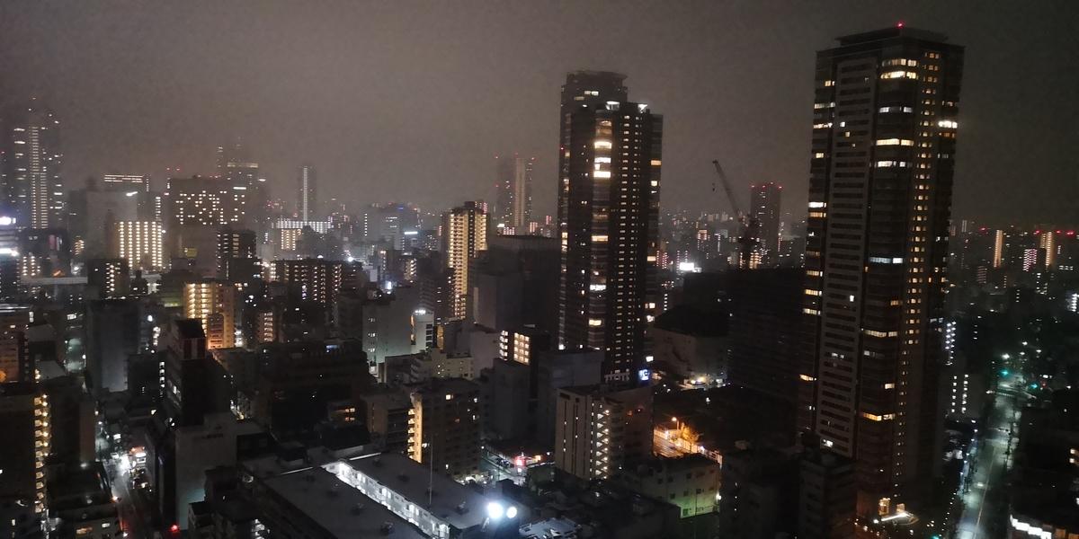 ウェスティンホテル大阪 エグゼクティブスイート 夜景