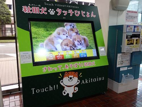 秋田犬サイネージ