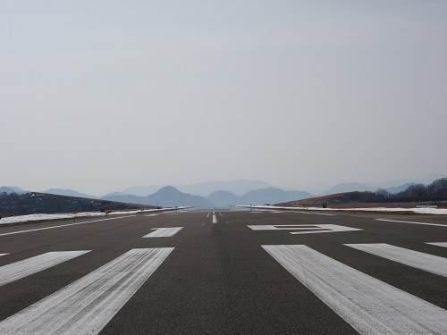 但馬空港滑走路