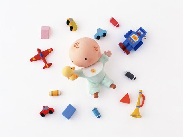 遊んでいる赤ちゃんのイメージ