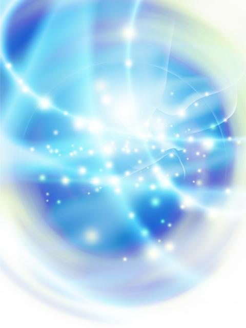 渦を巻く光のイメージ