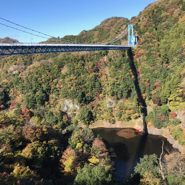 茨城県の龍神釣橋
