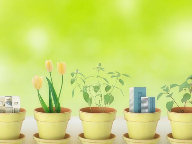 かわいい植木鉢のマスコット