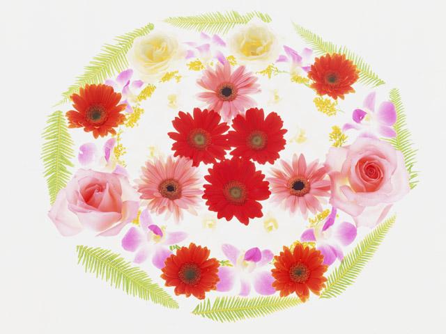 まるい花飾り