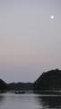 [船][海][月]月の下で櫓の鍛錬