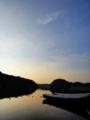 [風景][リアス][三陸][牡蠣][森][海][夜明け][朝][朝焼け]夜明け前(舞根湾)