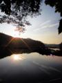 [風景][リアス][三陸][牡蠣][森][海][夜明け][朝日]夜明け(舞根湾)
