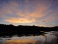 [風景][リアス][三陸][牡蠣][森][海][夕景][夕日]夕暮れ(舞根湾)