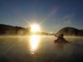 [風景][リアス][三陸][森][海][夜明け][朝日]海霧に明ける里海