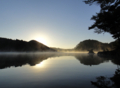 [風景][リアス][三陸][森][海][夜明け][朝日][秋]秋の夜明け(舞根湾)