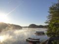 [風景][リアス][三陸][森][海][夜明け][朝日]海霧立ち込めて