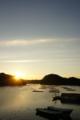 [牡蠣][風景][気仙沼][三陸][リアス][森][海][森は海の恋人][牡蠣][夜明け]朝日(舞根湾)