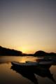 [風景][気仙沼][三陸][リアス][森][海][牡蠣][夜明け]日の出(舞根湾)