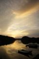[風景][気仙沼][三陸][リアス][森][海][朝焼]怪しく曇る(舞根湾)