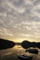 [風景][気仙沼][三陸][リアス][森][海][朝焼]暖かな朝(舞根湾)