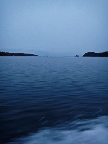 大島瀬戸より外洋を望む