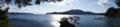 [風景][気仙沼][三陸][リアス][森][海]隠居の先より大島を望む(正面:大島)