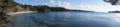 [風景][リアス][三陸][冬]九九鳴き浜(左:九九鳴き浜、右端:大島)
