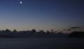[風景][気仙沼][三陸][リアス][朝]月(唐桑瀬戸)