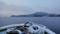 雪、大島(大島瀬戸より)