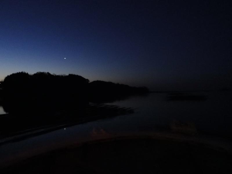 津波当日、明けの明星(2011/3/11)