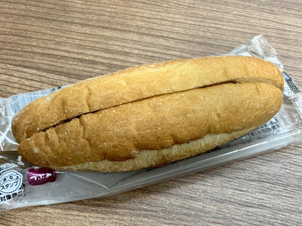 ローソンマチノパン あんことバターのフランスパン