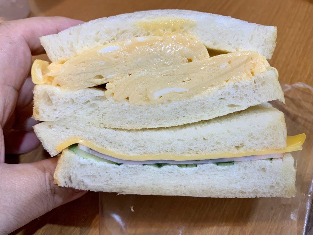 スゥシエル 出し巻きたまごとハムチーズ大葉サンド