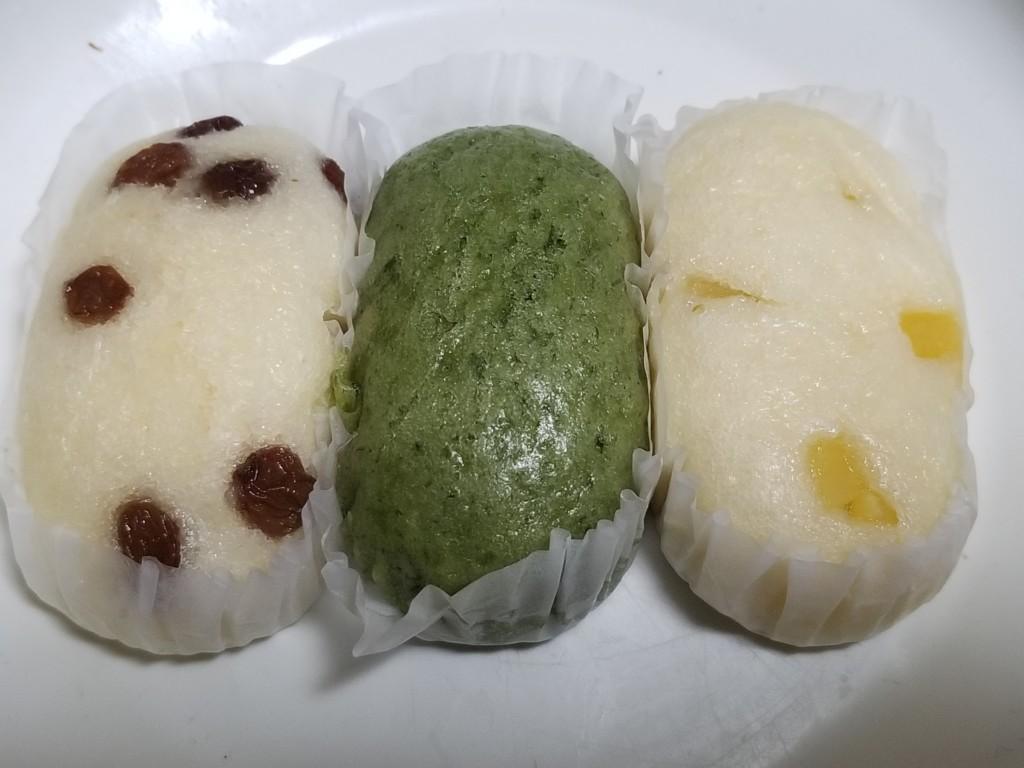 フジパン 蒸しパン三昧~レーズン・よもぎ・さつま芋~3個入