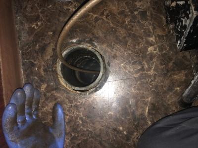 汚水管の詰まり抜き