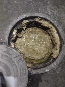 柏市にあるアパートの下水つまり