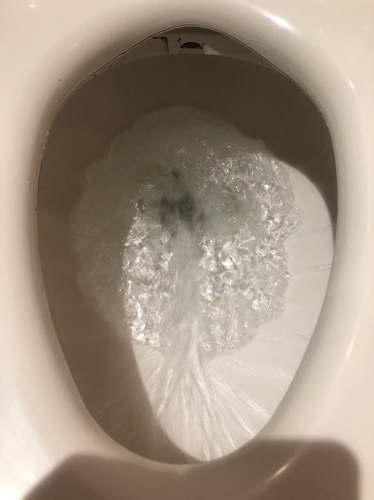 最後に通水テスト(漏れていないか)