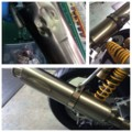 [マフラー][修理][補修][メンテナンス]XJR1300 マフラー 凹み 修理