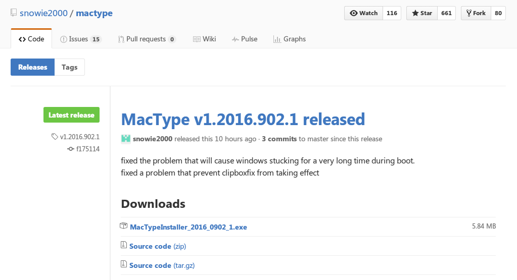 MacType v1.2016.902.1 released