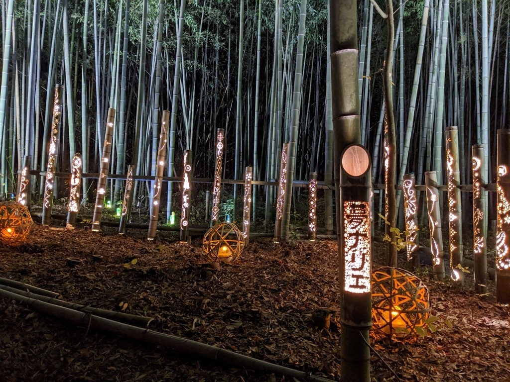 竹細工の照明