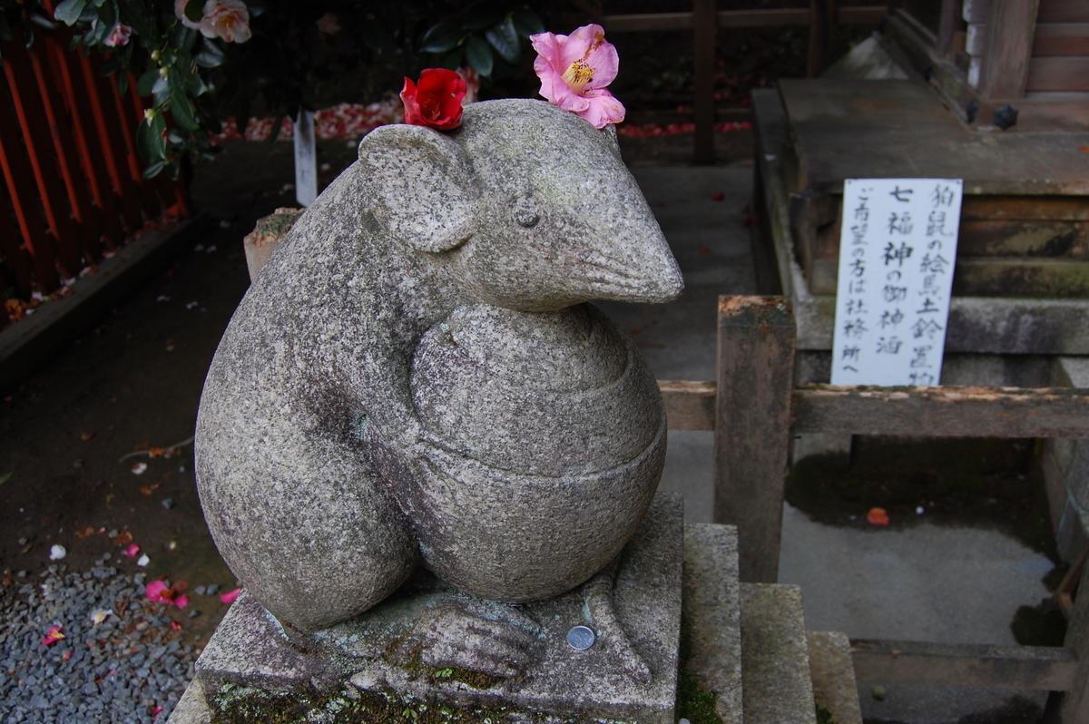 大豊神社の狛鼠