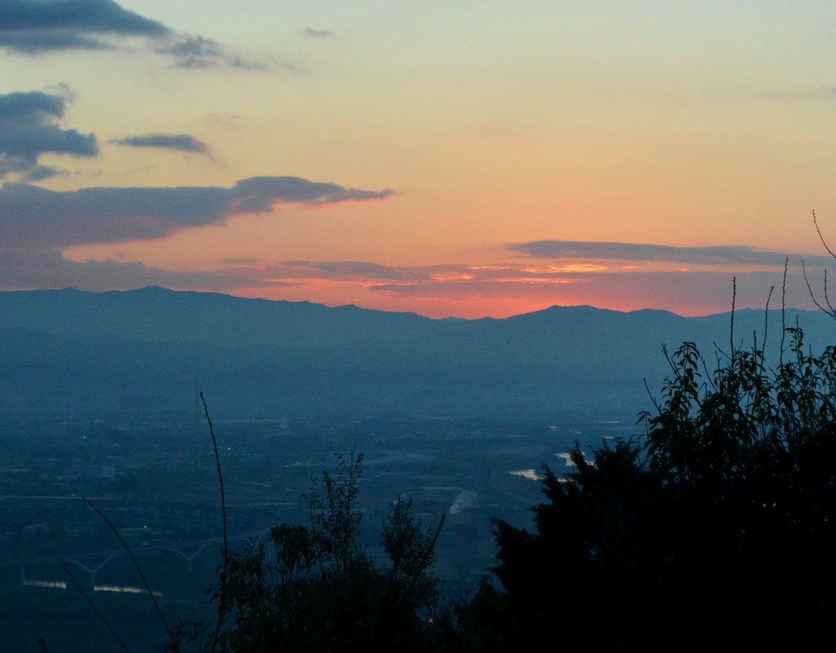 天王山の初日の出