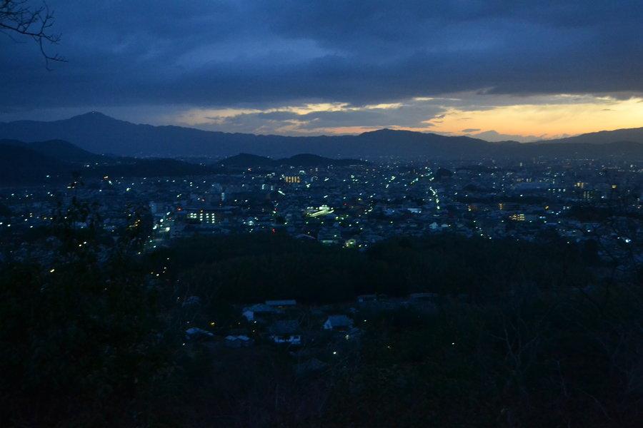小倉山の初日の出