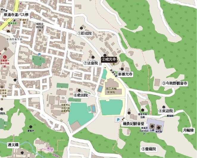泉涌寺地図