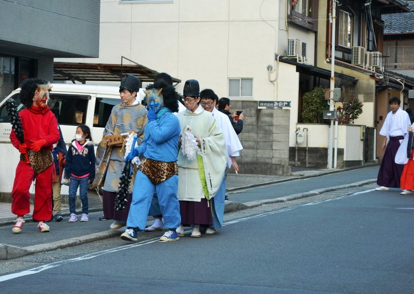 金札宮の追儺式巡行