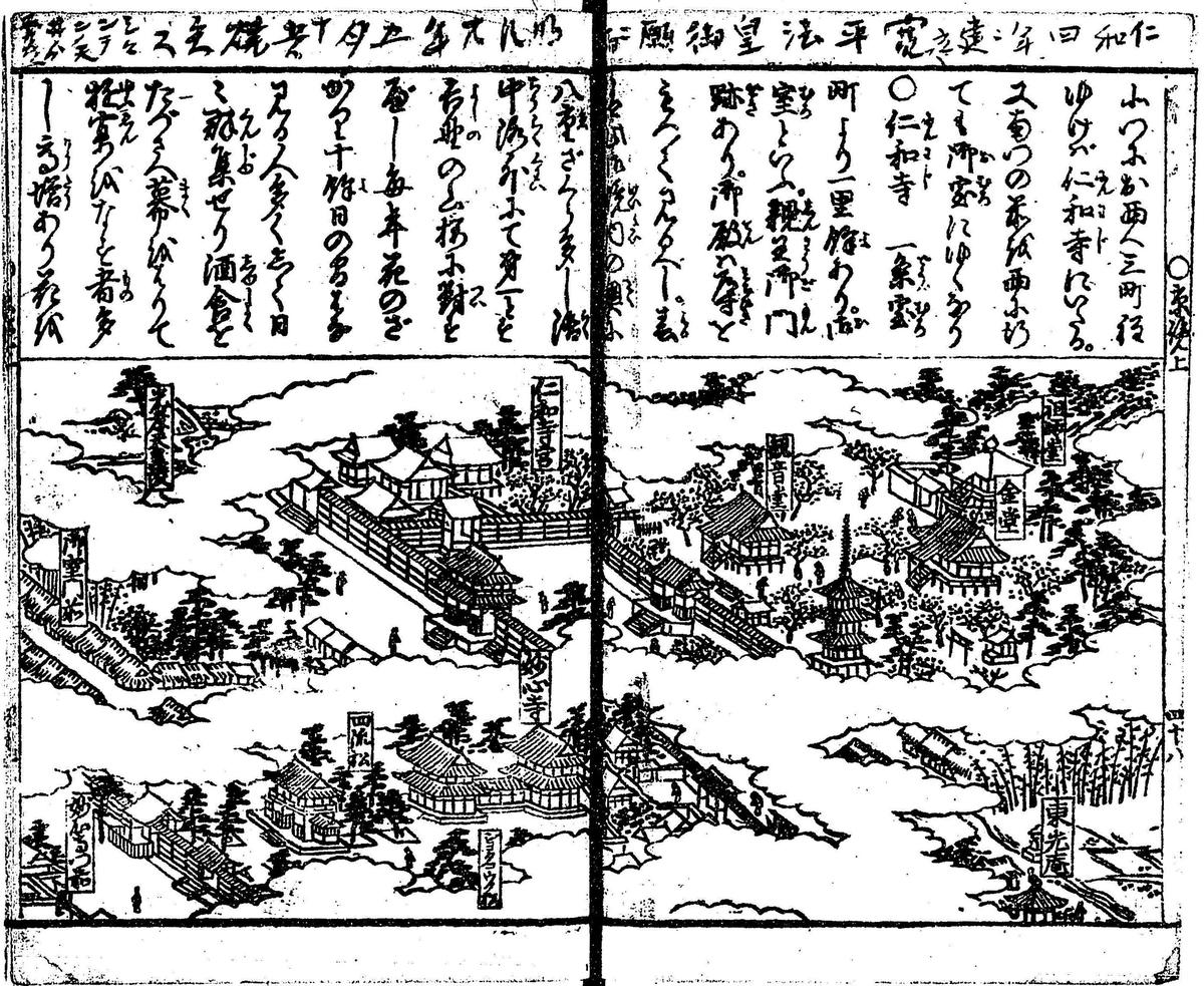 貝原益軒「京城勝覧」(国立国会図書館デジタルコレクションより)