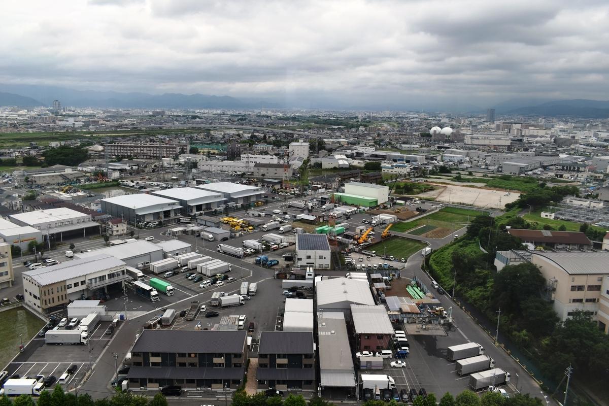 京都市南部クリーンセンター さすてな展望台 2020年6月25日 撮影:MKタクシー